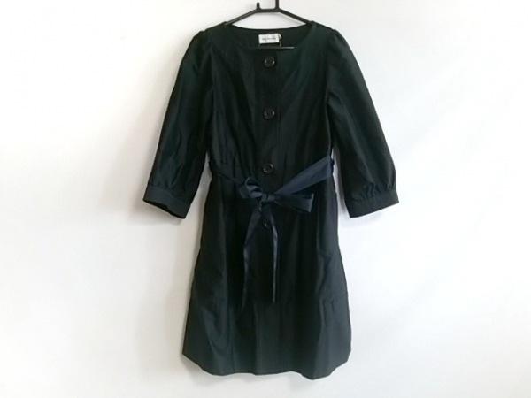 ボンメルスリー コート サイズ36 S レディース美品  ダークネイビー 春・秋物