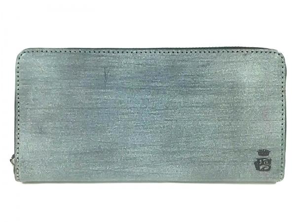 PaulSmith(ポールスミス) 長財布美品  グレー ラウンドファスナー/COLLECTION レザー