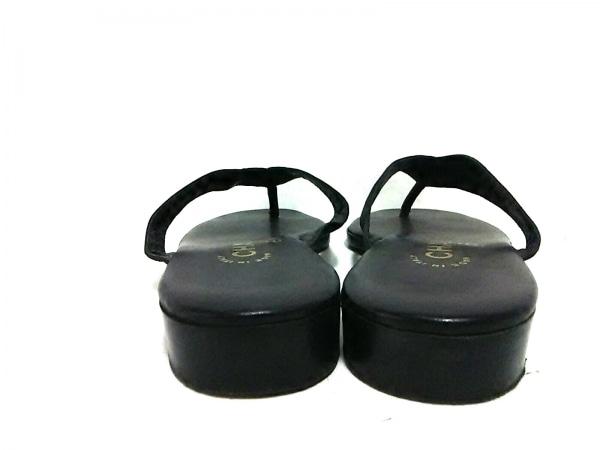 CHANEL(シャネル) サンダル 37 1/2 レディース美品  黒×白 サテン