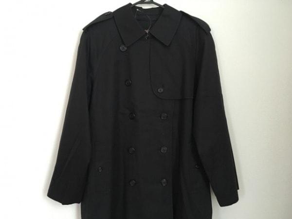 バーバリーズ トレンチコート サイズ11AR M レディース 黒 冬物/ネーム刺繍