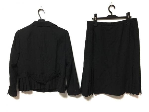 レリアン スカートスーツ サイズ13 L レディース美品  黒×グレー ストライプ