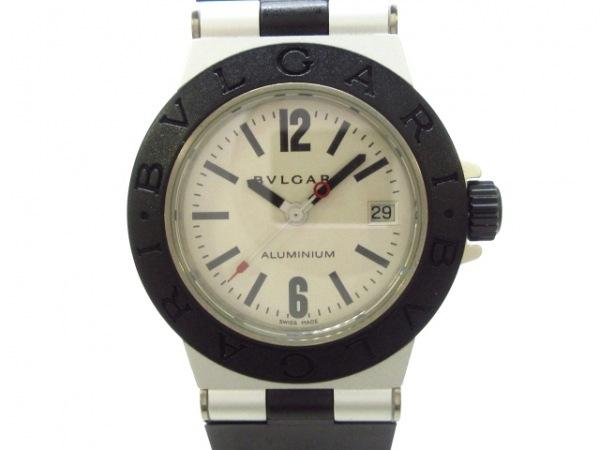 BVLGARI(ブルガリ) 腕時計美品  アルミニウム AL29TA ボーイズ アイボリー