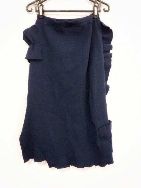 AKIRA NAKA(アキラナカ) スカート サイズ38 M レディース美品  ブルー フリル