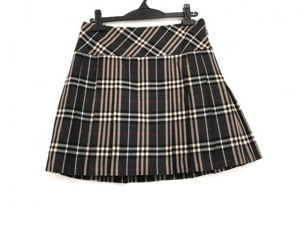バーバリーブルーレーベル スカート サイズ38 M レディース美品  チェック柄/プリーツ