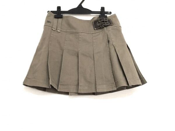 バーバリーブルーレーベル スカート サイズ38 M レディース美品  カーキ プリーツ