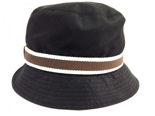 COACH(コーチ) 帽子 P/S美品  黒 ナイロン