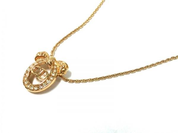 クリスチャンディオール ネックレス美品  金属素材 ゴールド ラインストーン