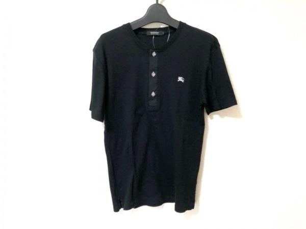 バーバリーブラックレーベル 半袖カットソー サイズ2 M メンズ 黒