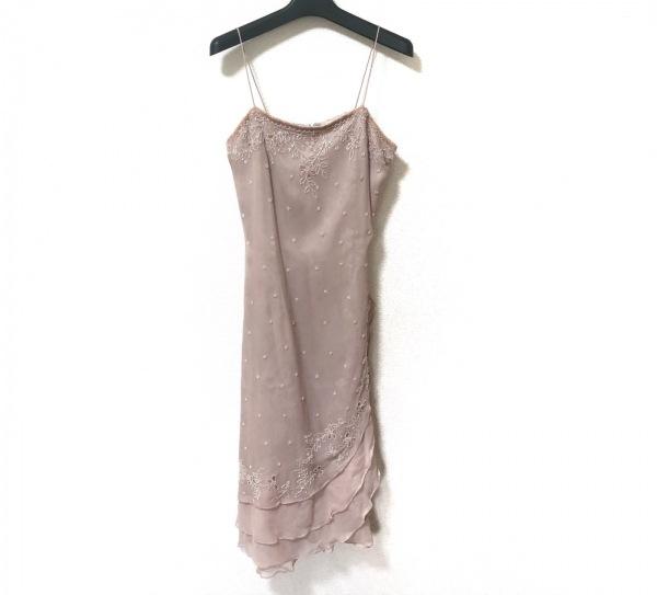 スカラ ドレス サイズ4 XL レディース美品  アンティークピンク ビーズ/ボレロセット