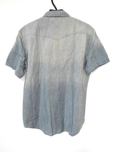 ラルフローレンデニム&サプライ 半袖シャツ サイズL メンズ美品  ライトブルー デニム