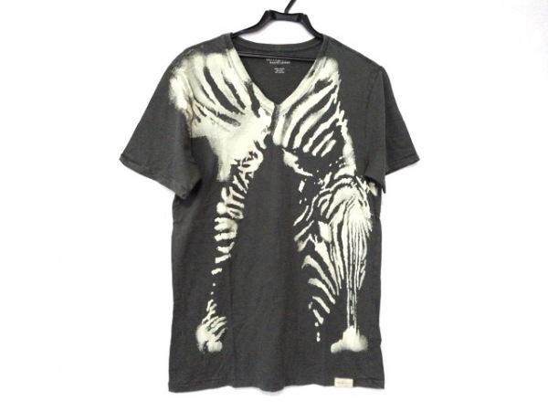 ラルフローレンデニム&サプライ 半袖Tシャツ サイズM メンズ カーキ×アイボリー