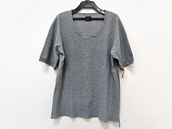 ポールスミスレッドイヤー 半袖Tシャツ メンズ美品  グレー×レッド
