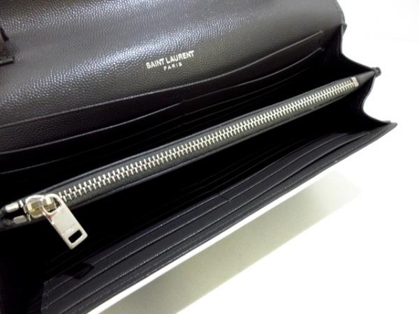 サンローランパリ 財布美品  モノグラム サンローラン 377828 ダークグレー×白