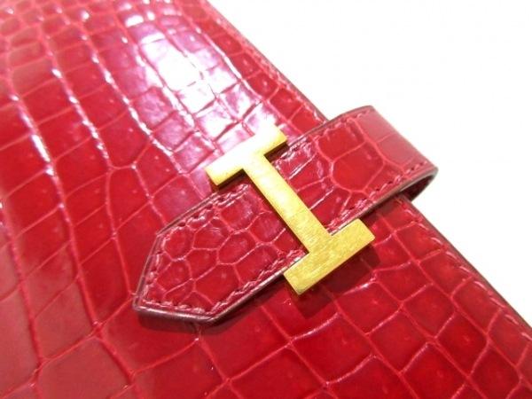 HERMES(エルメス) 長財布美品  ベアン ブレイズ 旧型/ゴールド金具 ポロサス