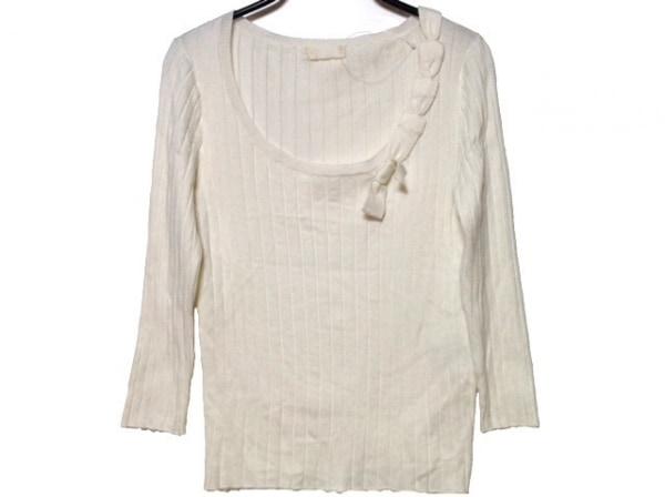 INGEBORG(インゲボルグ) 七分袖セーター サイズ9 M レディース アイボリー リボン