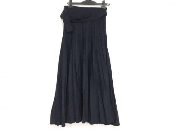 ミラオーウェン ロングスカート サイズ1 S レディース美品  ネイビー ニット