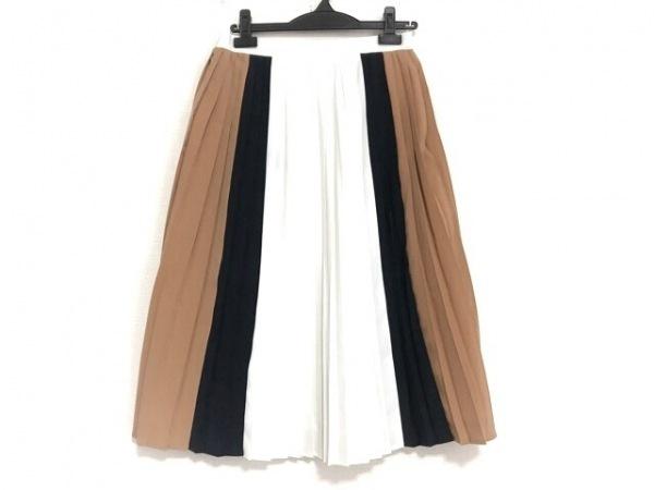 ドレステリア ロングスカート サイズM レディース美品  白×黒×ブラウン