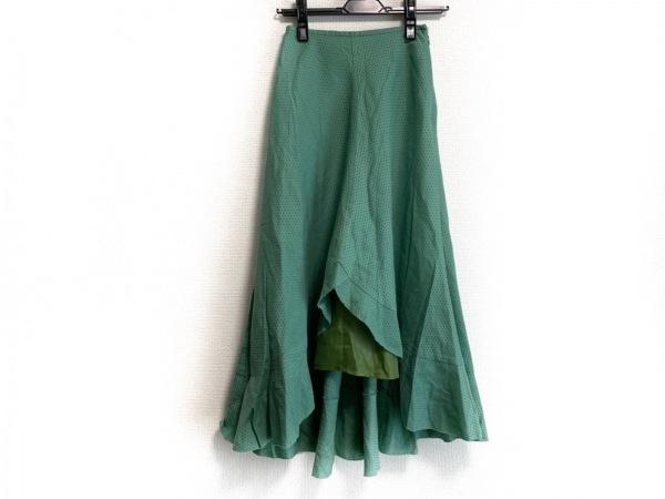JOCOMOMOLA(ホコモモラ) ロングスカート サイズ40 XL レディース美品  グリーン