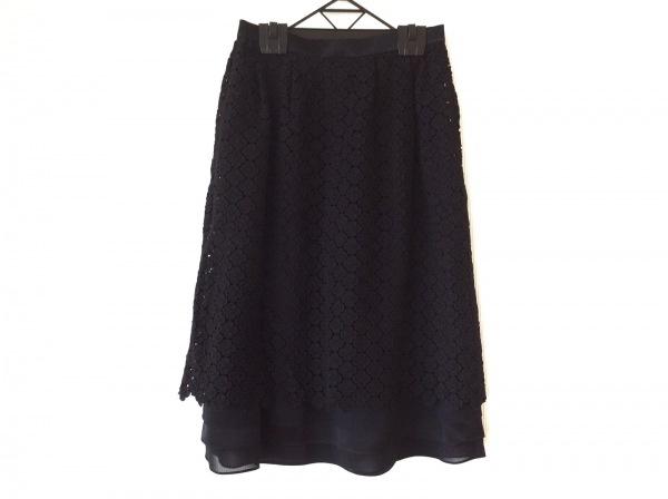 HARRODS(ハロッズ) スカート サイズ38 L レディース美品  黒 花柄/レース