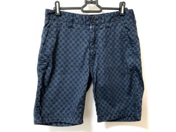 ジョセフオム ショートパンツ サイズ44 L メンズ美品  ネイビー×ダークネイビー