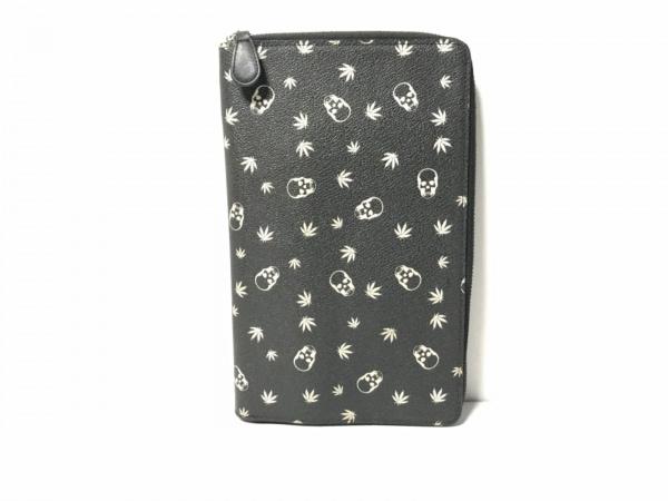 lucien pellat-finet(ルシアンペラフィネ) 長財布 黒×白 PVC(塩化ビニール)