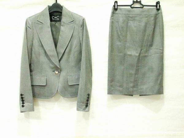 クードシャンス スカートスーツ サイズ36 S レディース美品  グレー