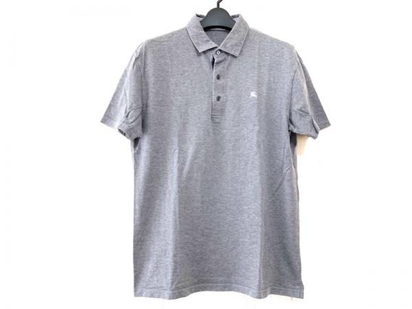 バーバリーブラックレーベル 半袖ポロシャツ サイズ3 L メンズ グレー