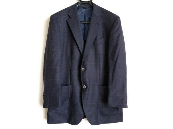 ランバンコレクション ジャケット サイズR48-45 メンズ ダークネイビー×ネイビー