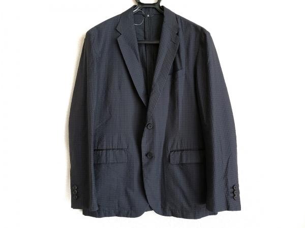 ランバンコレクション ジャケット サイズ46 L メンズ 黒×ダークネイビー