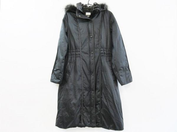 セシオセラ ダウンコート サイズ38 M レディース美品  ダークグリーン×黒