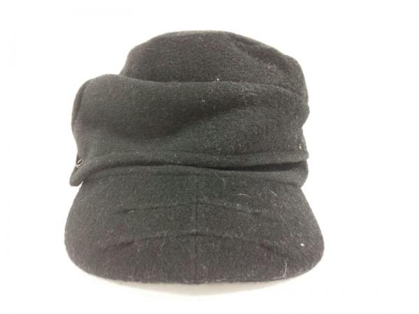 CA4LA(カシラ) 帽子美品  黒 ウール×化学繊維