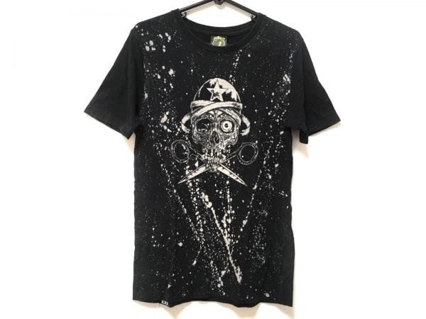 ジーヒステリック トリプルエックス 半袖Tシャツ サイズS レディース 黒×ベージュ