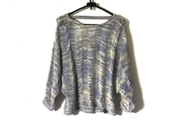 archi(アーキ) セーター サイズS レディース パープル×ピンク×マルチ フリンジ