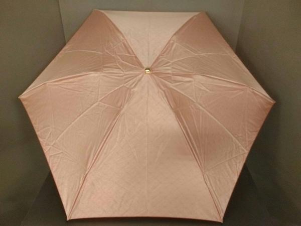 CELINE(セリーヌ) 折りたたみ傘美品  Cマカダム柄 ピンクベージュ 化学繊維