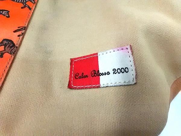 Calen Blosso(カレンブロッソ) ハンドバッグ ベージュ×オレンジ Calen Blosso 2000