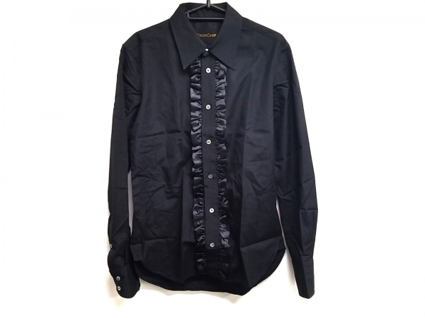 DRESS CAMP(ドレスキャンプ) 長袖シャツ サイズ44 L メンズ 黒 フリル