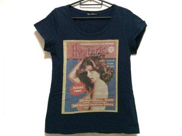 HYSTERIC GLAMOUR(ヒステリックグラマー) 半袖Tシャツ サイズF レディース ネイビー