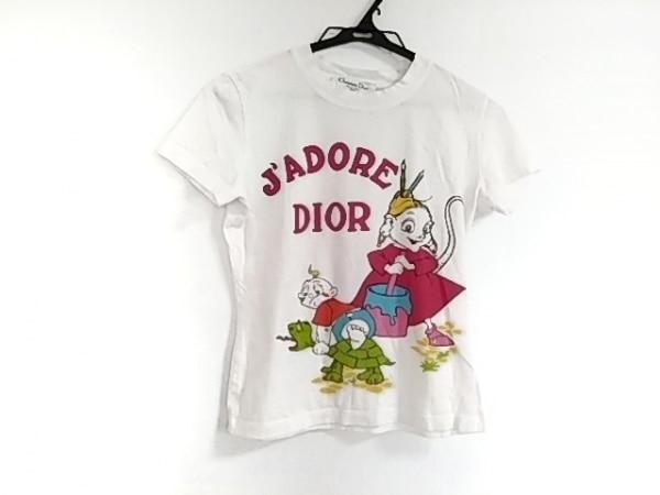 クリスチャンディオール 半袖Tシャツ サイズ38 M レディース 白×ピンク×マルチ