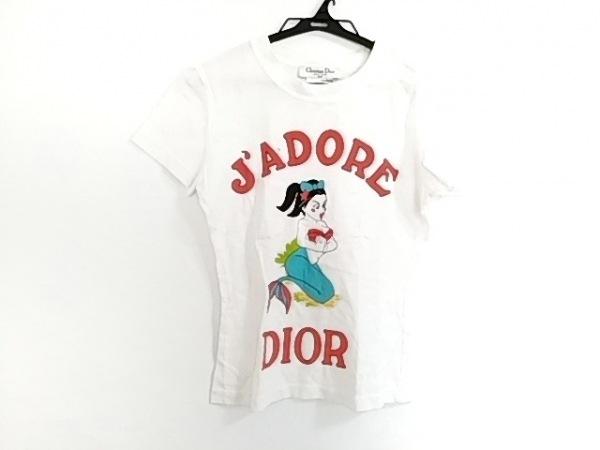 クリスチャンディオール 半袖Tシャツ サイズ38 M レディース 白×レッド×マルチ