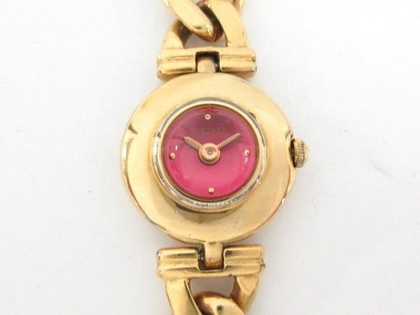 SEIKO(セイコー) 腕時計 1E20-0740 レディース ブレスウォッチ/カラーストーン ピンク
