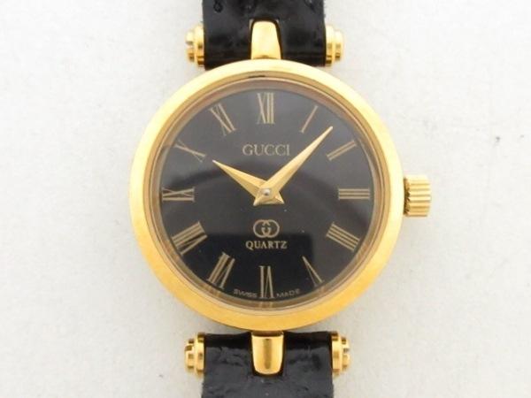 GUCCI(グッチ) 腕時計美品  ダブルG - レディース 黒