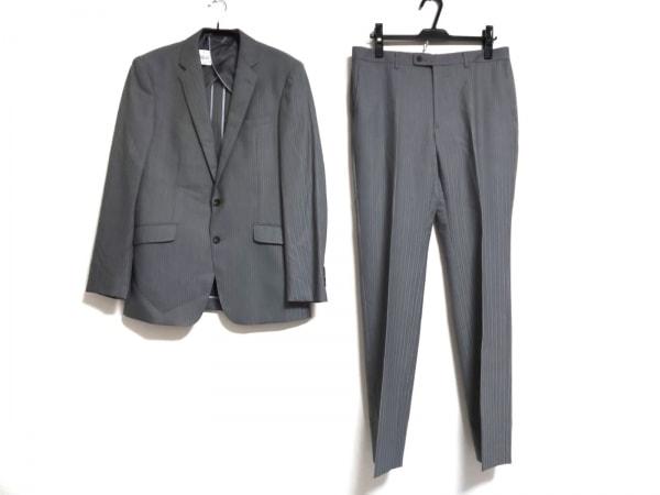 PERSON'S(パーソンズ) シングルスーツ メンズ グレー×白 ストライプ