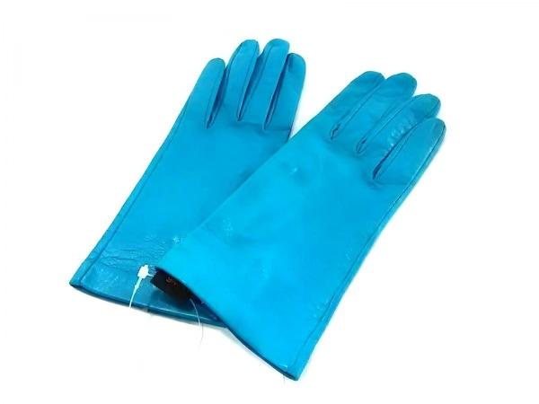Sermoneta gloves(セルモネータグローブス) 手袋 レディース新品同様  ブルー レザー