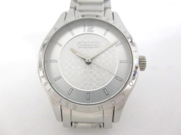 COACH(コーチ) 腕時計美品  CA.79.7.14.0840 レディース シルバー×白