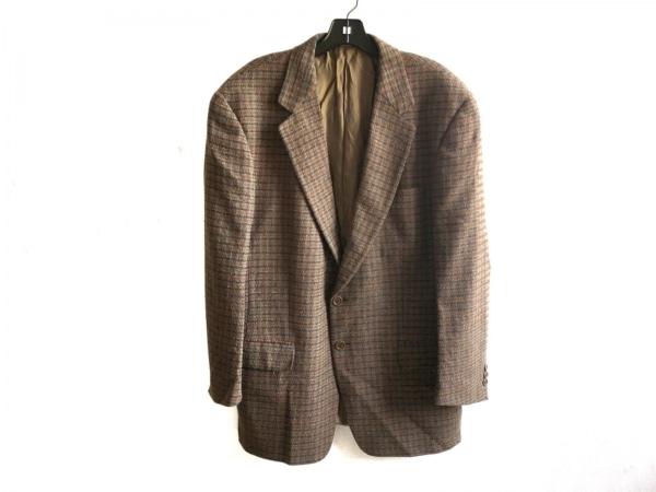ゼニア ジャケット サイズ46 XL メンズ美品  カーキ×レッド×マルチ