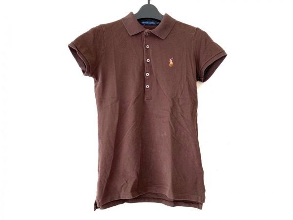 RalphLauren(ラルフローレン) 半袖ポロシャツ サイズS レディース ダークブラウン