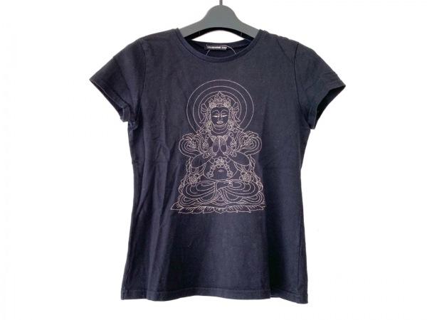 ヴィヴィアンタム 半袖Tシャツ サイズ0 XS レディース 黒×ゴールド 刺繍