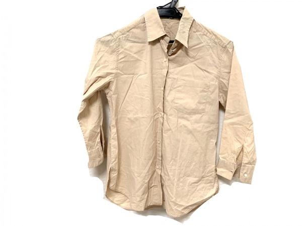 ルシェルブルー 七分袖シャツブラウス サイズ36 S レディース美品  ベージュ