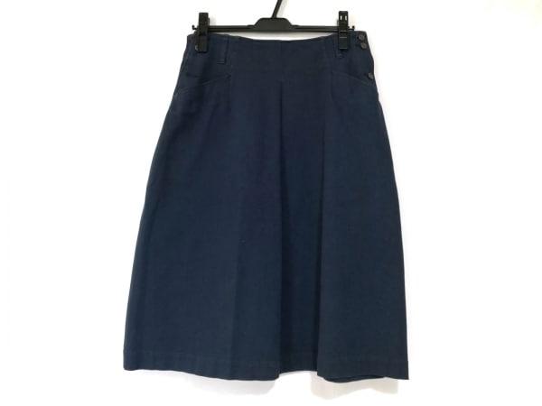 45R(フォーティーファイブ・アール) スカート サイズ2 M レディース美品  ネイビー