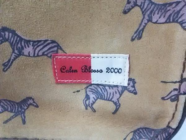 カレンブロッソ トートバッグ ライトブラウン×ネイビー×ブラウン Calen Blosso 2000